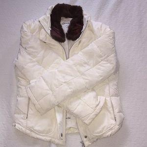 Calvin Klein small white coat